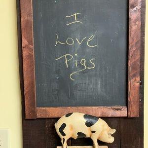 Pig Doorstop- Iron